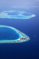 Aerial view of the maldive island Giraavaru