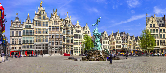 Foto op Canvas Antwerpen Antwerpen, Belgium. square of old town