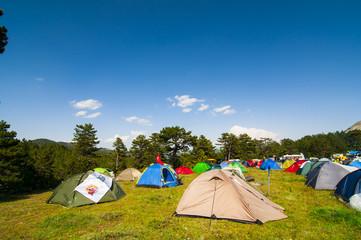 kamp alanı ve çadırlar