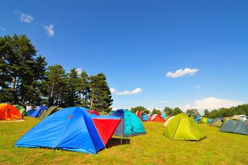 çadırlar ve kamp alanı