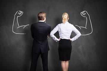 Geschäftsleute sind zusammen stark