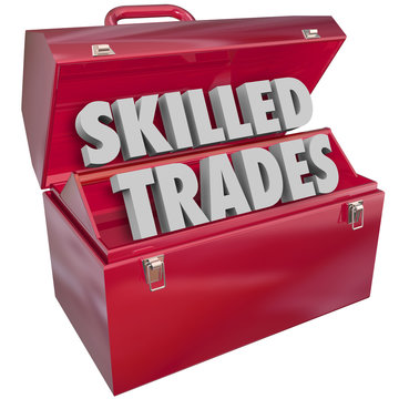 Skilled Trades Toolbox Technician Mechanic Blue Collar Work Job