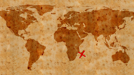 illustration of an ancient treasure map texture