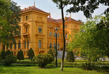 The Presidential Palace, Hanoi Vietnam in Spring.
