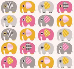 seamless elephant pattern background