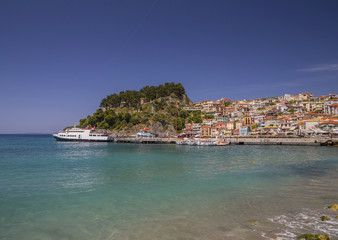 Fototapete - Parga Epirus Greece - summer tourist resort