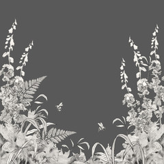 Vector Floral Summer Background