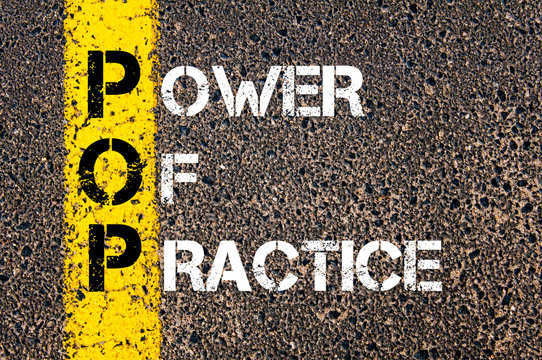 Business Acronym POP as POWER OF PRACTICE