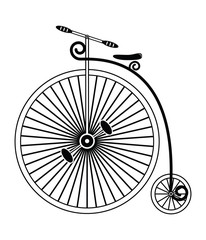 Vintage bike type 1 in black and white design
