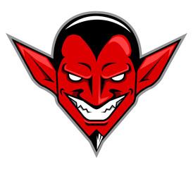 Vector illustration of devil head