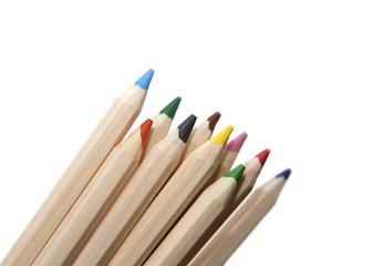 crayons de couleurs en bois recyclés