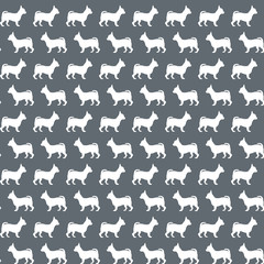 Seamless pattern with dog's silhouettes