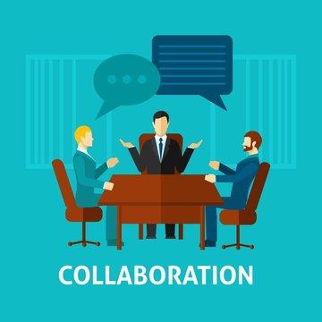 Flat Collaboration Icon