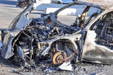 épave incendiée vandalisme