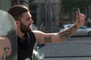 Selfie on the street