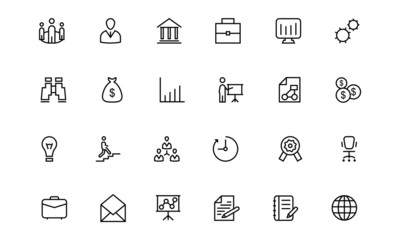 Business and Finance Line Icons 1