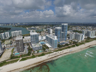 Aerial image of Miami Beach beacfront architecture