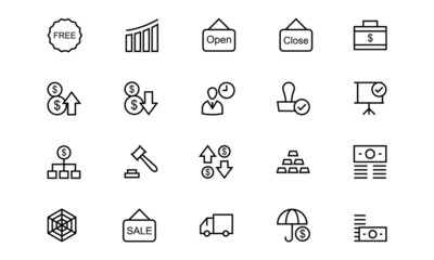 Business and Finance Line Icons 6