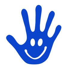 Hand mit Smiley
