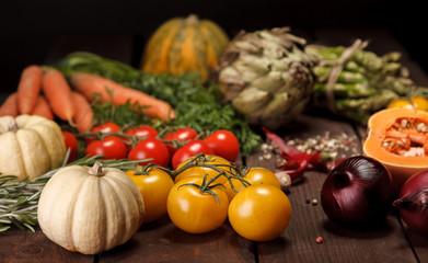 Foto op Plexiglas Groenten fresh vegetables