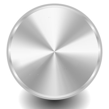 Blank metal, metallic circle plate or disc with conical gradient