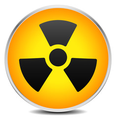 Simple radiation, radioactivity sign. Eps 10 vector illustration