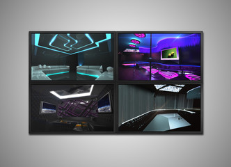 cctv monitor for nightclub