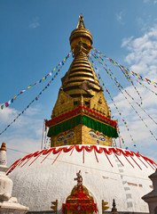 Ancient stupa Swayambhunath in Katmandu