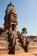 Temple on Bhaktapur, Nepal