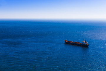 Empty container cargo ship