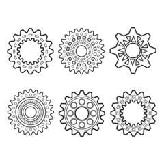 Set of Design Elements, Patterned Circles. Patterned Design