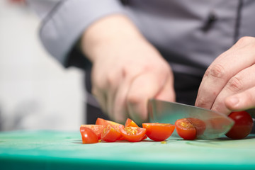 Cook chopped tomatoes