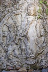 Wall Buddha statue
