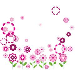 Floral Frame.Vector illustration