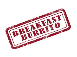 stamp breakfast burrito in red