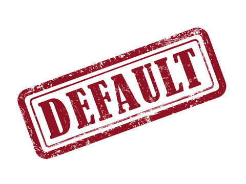 stamp default in red