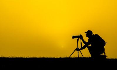 fotoğrafçının halleri ve konsantrasyon