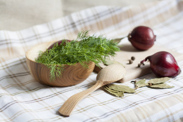 Dill and spices