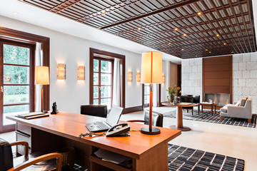 office and waiting room in a luxury hotel
