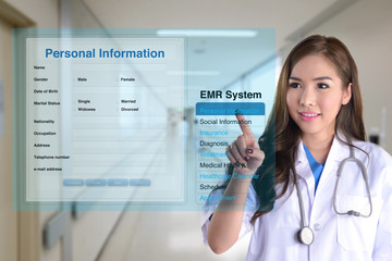 Wall Mural - Electronic medical record.