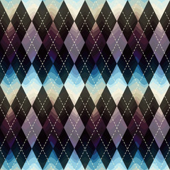 Classic argyle pattern with wavy shadow.