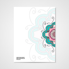 Graphic design letterhead with hand drawn ornament