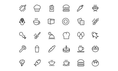 Food and drinks Line Icons 12