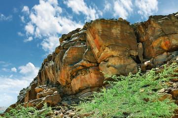 Египет, горы Синайского полуострова, цветной каньон