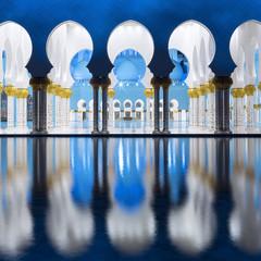 Fotobehang Midden Oosten View of famous Grand Mosque