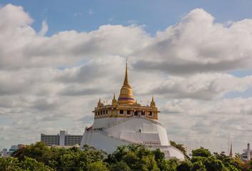 The Golden Mount at Wat Saket, Travel Landmark of Bangkok Thaila