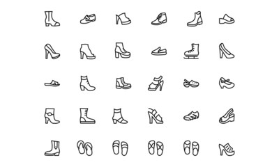 Shoes Line Vector Icons 2