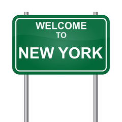 Wellcome to New York vector