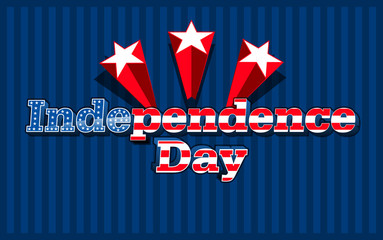 American Independence day, vector