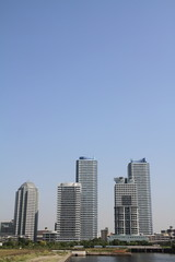 横浜みなとみらい21の高層マンション群
